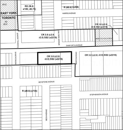 Site Map for Danforth Ave & Woodbine Ave Condos